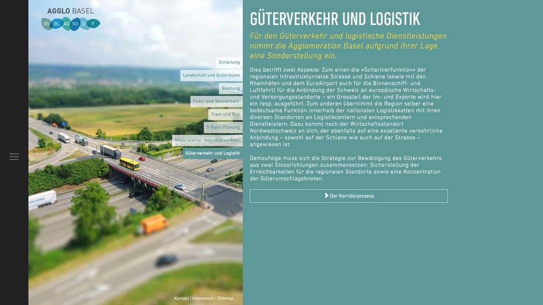An Image of the AGGLO Güterverkehr und Logistik Page