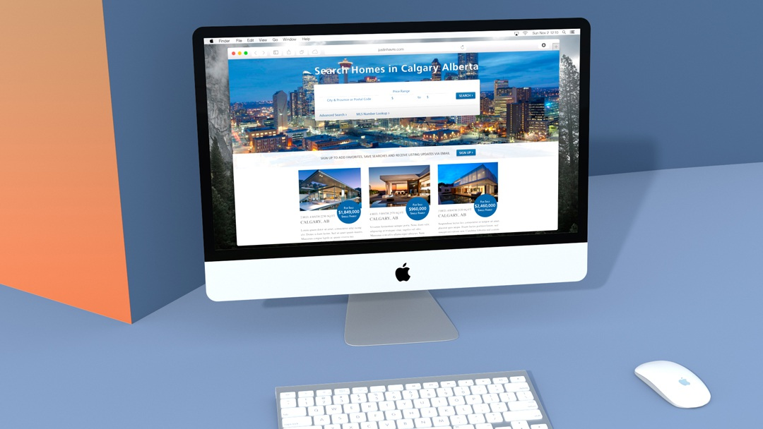 Justin Havre & Associates home page mock-up
